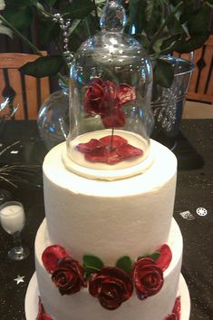 Beauty and the beast wedding cake!! @Briana O'Higgins Raposo    Want to find someone to make this!