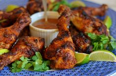 Crispy Tandoori Chicken Drumsticks with Mango Chutney - Once Upon a Chef