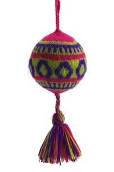 Hand Embroidered Rhombus Fair Trade Ornament
