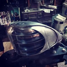 Gas tank ready for fill and paint..#handmade pocket finned tank here at The Farm. Matches the oil bag on the Bosch build.#slimsfab #sportster #keepingamericaworking #chopcult @chopcult slimsfabfarm.com by slimsfab http://ift.tt/1EiAiqP