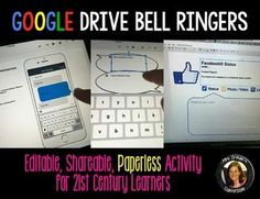 Google Drive Google Classroom Google Apps Digital Bell Ringers and Exit Slips - If you love using bell ringers and exit slips in class, but hate using the paper copies, then THIS is what you want!My popular bell-ringer activities use social media and pop