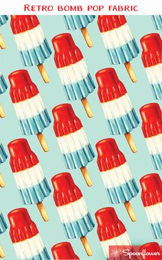 purchase retro bomb pop fabric designed by Kelly Gilleran on Spoonflower