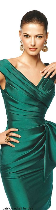 Pronovias 2015 emerald dress @roressclothes closet ideas #women fashion outfit #clothing style apparel