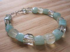 Vintage green gemstone everyday wearable design by GemGlassCraft, $89.00