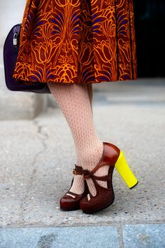 Yellow Heeled Shoes