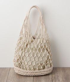 Diy Crafts - Crochet Farmers Market Bag pattern by Brittany Coughlin Bag Crochet, Crochet Shell Stitch, Crochet Market Bag, Crochet Handbags, Crochet Purses, Cotton Crochet, Filet Crochet, Cotton Cord, Cotton Bag