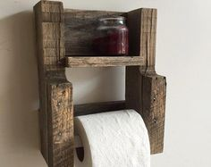 Rustic Wood Pallet Furniture Toilet Paper by NCRusticdesigns