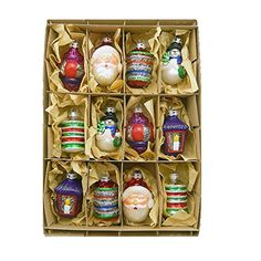 Kurt Adler Early Years Glass Ornament 25Inch Set of 12 *** Visit the image link more details. (This is an affiliate link)