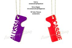 Customized acrylic name keychains. Completed as of July 5, 2012.