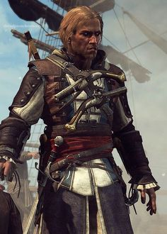 Edward is the sexiest pirate right after Jack Sparrow Best Assassin's Creed, All Assassin's Creed, Assassins Creed Memes, Assassins Creed Black Flag, Assassin's Creed Black, Assassin's Creed Wallpaper, Edwards Kenway, Jackdaw, Fantasy Art