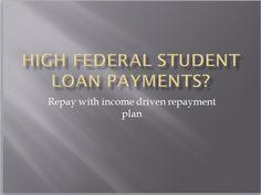 High federal loan repayments