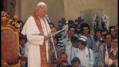 Jan Paweł II - spotkanie z młodzieżą na Krakowskim Przedmieściu. (2/3)