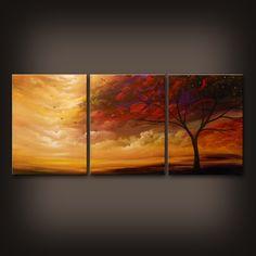large art original painting wall art abstract painting by mattsart