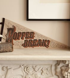 A friendly reminder that it's time for a caffeine fix, completely hand-printed and -sewn.