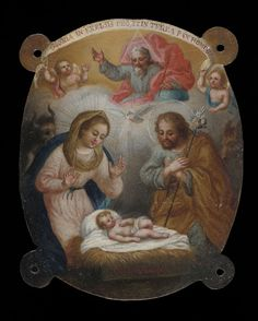 Title: Badge with Adoration of the Shepherds (Escudo con la adoración de los pastores)  Artist Name: José de Páez