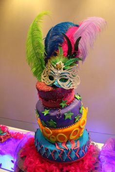 torta decorada de carnaval - Buscar con Google