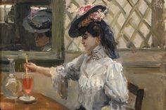 Isaac Israëls, In het Café (Jeune fille sa refraîchissant), ca. 1905, olieverf…