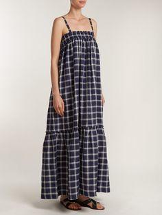 https://www.matchesfashion.com/products/Lee-Mathews-Nellie-checked-cotton-apron-dress-1216989