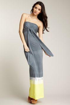 Monrow     Dip Dye Halter Maxi Dress