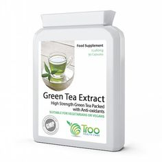 Troo Health Care Green Tea Extract Capsules provide the most potent green tea formula on the market today. Now in an new high strength formula, Troo Health Care Green Tea Extract provides the best value for money ANYWHERE!Every capsule is bursting with th Green Tea Supplements, Amino Acid Supplements, Green Tea Pills, Green Tea Capsules, Body Cells, Healthy Liver, Green Tea Extract, Vitamins And Minerals, Superfoods