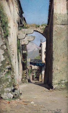 Vecchio paese by Vincenzo Caprile