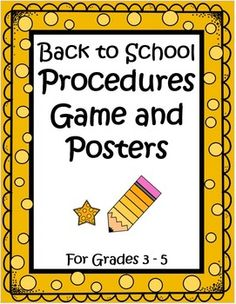 This 42 page packet comes with a Classroom Procedures Board Game (to practice classroom procedures using scenarios) , a set of 19 Procedure Posters, an extensive classroom procedure sample (The Teacher Next Door's) and detailed teacher notes. Everything you need is here to help your students internalize your classroom rules and procedures. Teaching the kids your classroom procedures sets the foundation for everything else in the year. Great reinforcement to start the year well! $