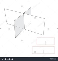 Box Dividers With Die Cut Layout Stock Vector Illustration 192752687 : Shutterstock