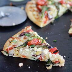 Whipped Feta and Roasted Jalapeno Greek Pizza