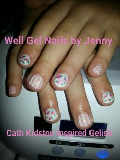 Gelish Cath kidston inspired nails
