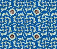 Alla Turca fabric by amyvail on Spoonflower - custom fabric.  Sort of a Blue Rondelle; tribute to Dave Brubeck.