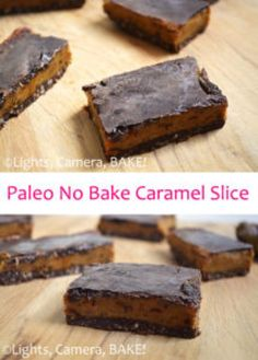 Paleo No Bake Caramel Slice is amazing! If you didn't know it was Paleo or 'healthy' you would never, EVER know. This slice is one you seriously want to try! Click the photo for the . No Bake Desserts, Healthy Desserts, Dessert Recipes, Healthy Recipes, Baking Recipes, Whole Food Recipes, Base Foods, Healthy Baking, Cupcake Cakes