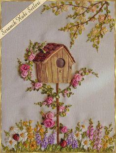 Kits Cerâmica Hobby - rosas de cerâmica - pintura em madeira - objetos de cerâmica para bordado de fita: Fita Bordado-2 Aplicações