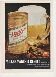 1970 Miller High Life Beer Advertisement by fromjanet on Etsy, $7.00