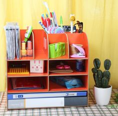 """Desktop Organizer from """"Creating the Perfect Home Office: Files and Organizers"""""""