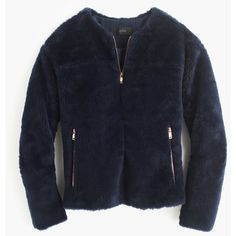 J.Crew Plush Fleece Teddy Jacket (9,475 PHP) ❤ liked on Polyvore featuring outerwear, jackets, j.crew, varsity bomber jacket, zipper fleece jacket, zip jacket, varsity style jacket and fleece varsity jacket