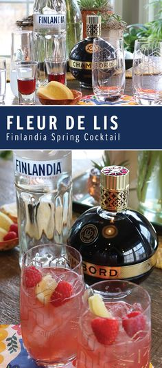 Garnished with a lemon twist and raspberries, the Fleur De Lis is the perfect cocktail to serve at your next spring or summer soiree. Featuring Finlandia Vodka, you are sure to enjoy every sip of this tasty recipe.