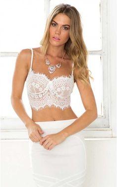 b04ac1fea1 Ooh La La Bustier in White Lace