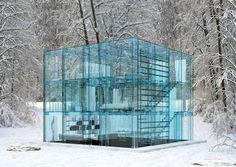 Casa de vidro conceito, Itália, 2011