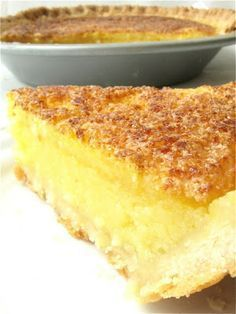 """Lemon Chess Pie - this pie is perfect for those of you who love lemon, but don't like the somewhat """"gluey"""" texture (or mile-high meringue) of a classic lemon meringue pie. This humble pie has no meringue to hide beneath; it's just lemon at its simple best"""