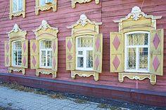 arquitectura de madera, Irkutsk, Siberia, Rusia, Eurasia