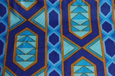 Blue Sateen teal blue peacock turquoise cotton fabric African
