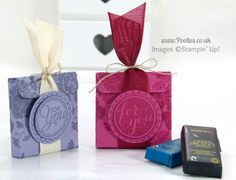 Stampin' Up! UK Demonstrator Pootles - Chocolate Treat Box Tutorial        make bigger and decorate for Cmas - gift card holder???