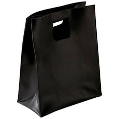 For Sale on - 'Carol' is a leather bag, designed by Claude Bouchard and manufactured by Oscar Maschera. It looks like the archetype of a paper bag made in leather. Leather Bag Design, Leather Box, Soft Leather, Black Leather, Red Purple, Orange Red, Container Design, Basket Decoration, Museum Collection