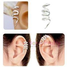 USD $2.31 1pc Fashion Women Snake Waviness Ear Cuff Clip Earring No Piercing - BornPrettyStore.com