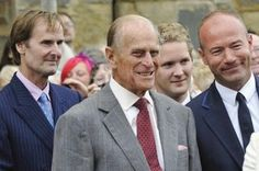 The Duke of Northumberland and Prince Philip at Alnwick Castle