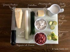 Romanesco con Salsa Blanca de Jamón y Coles de Bruselas   Mise en Place Bechamel, Romanesco, Quiche, Coles, Tacos, Dairy, Food, Arrows, Gratin