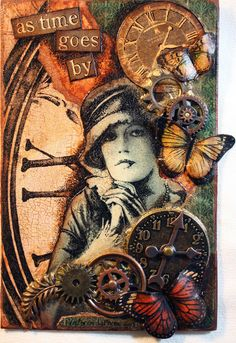 Victoria's Art Visions ~ what a great idea! I have some old things of my grandma… Victoria's Art Visions ~ what a great idea! I have some old things of my grandma's, and also my father-in-law's. collage w/ portrait shadow-box memory thingy! Papel Vintage, Motif Vintage, Vintage Cards, Mixed Media Collage, Mixed Media Canvas, Collage Art, Mixed Media Boxes, Photo Halloween, Halloween Cards