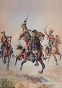 General Colbert leading charge of Red Lancers at Waterloo Waterloo 1815, Battle Of Waterloo, Military Art, Military History, Military Uniforms, Empire, French Army, Napoleonic Wars, Modern Warfare