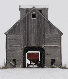 Old gray barn weathered wood antique farm stable design