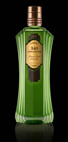 absinth bottle | Product Ventures; inspired by the Art Deco of the 1920s